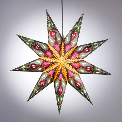 Green & Pink Paper Star Light Shade