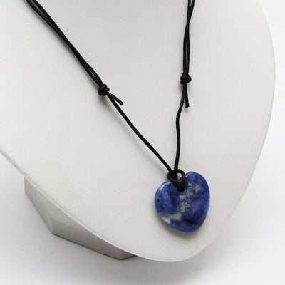 Sodalite Heart Necklace - Meditation