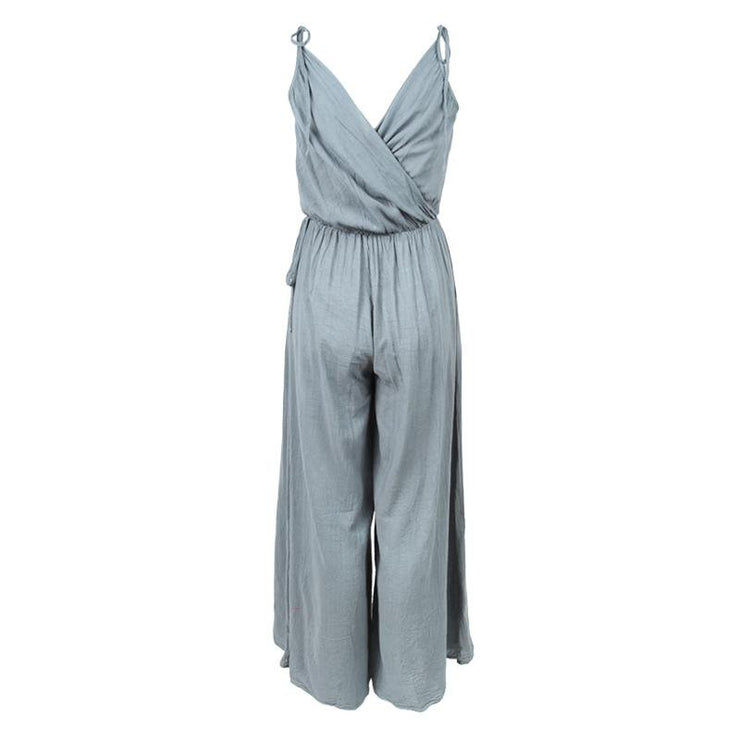 Wide Leg Cami Crossover Jumpsuit