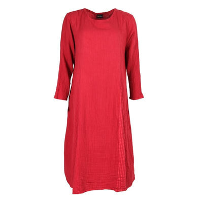 Textured Double Layer Smock Dress