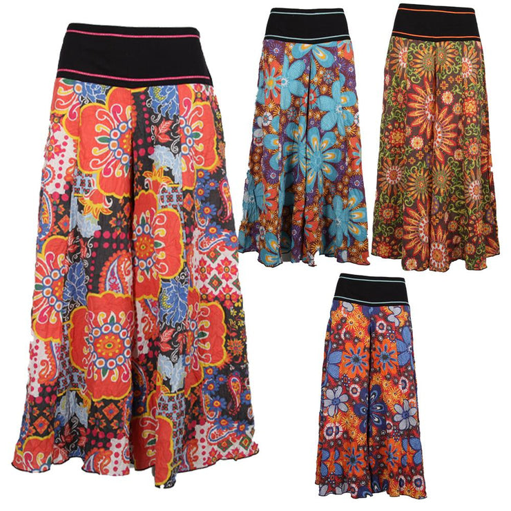 Extreme Wide Leg Floral Trousers.