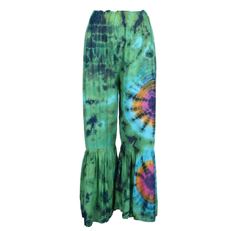 Tie Dye Bell Bottom Trousers