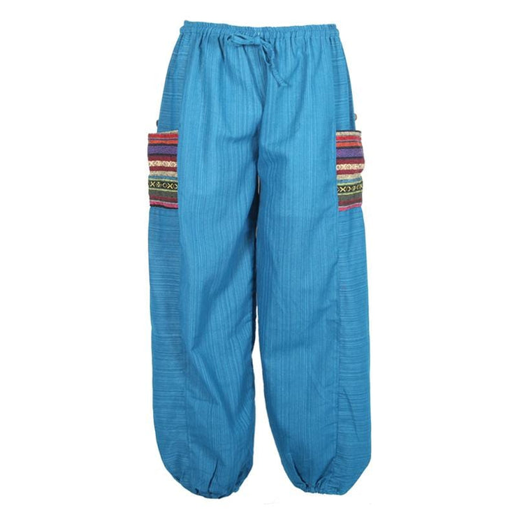 Thai Woven Cotton Ali Baba Trouser