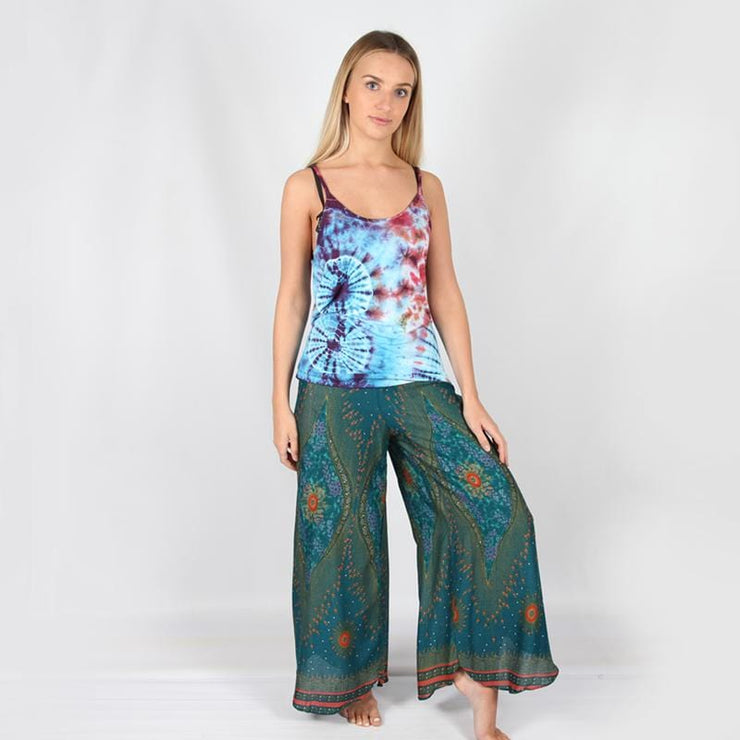 Peacock Print Trousers