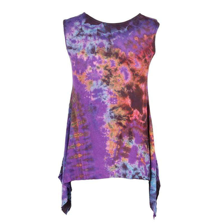 Tie Dye Batwing Sleeveless Top