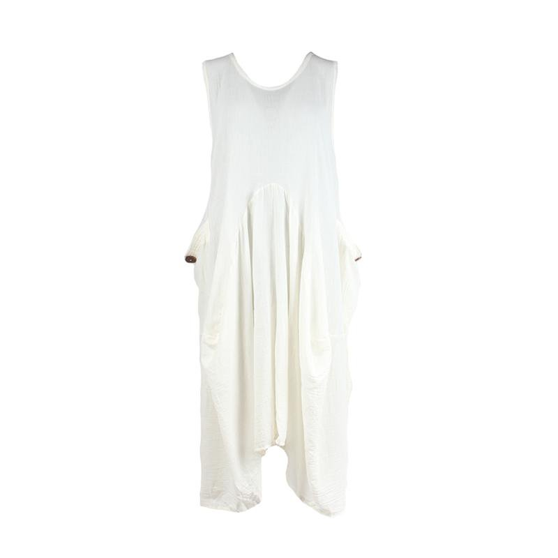 Sleeveless Cotton Smock Dress