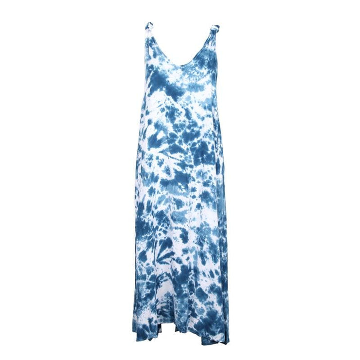 Shibori Indigo Tie Dye Maxi Dress