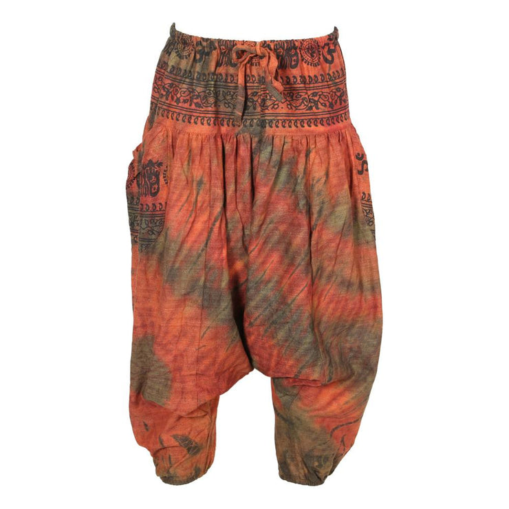 Men's Overdyed Grunge Harem Pants