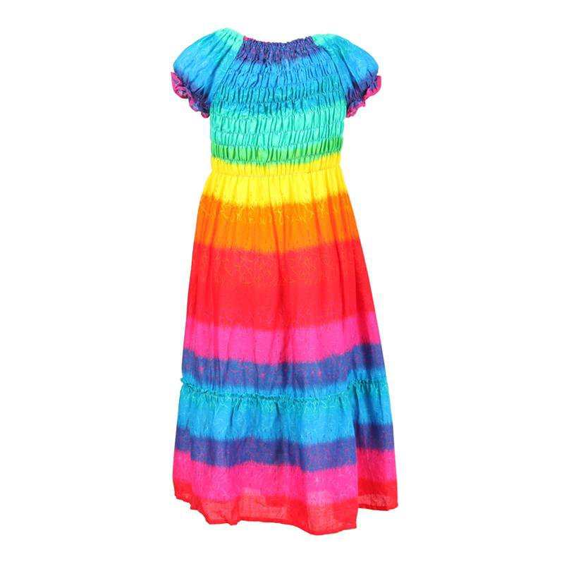 Kids Rainbow Bandeau Summer Dress