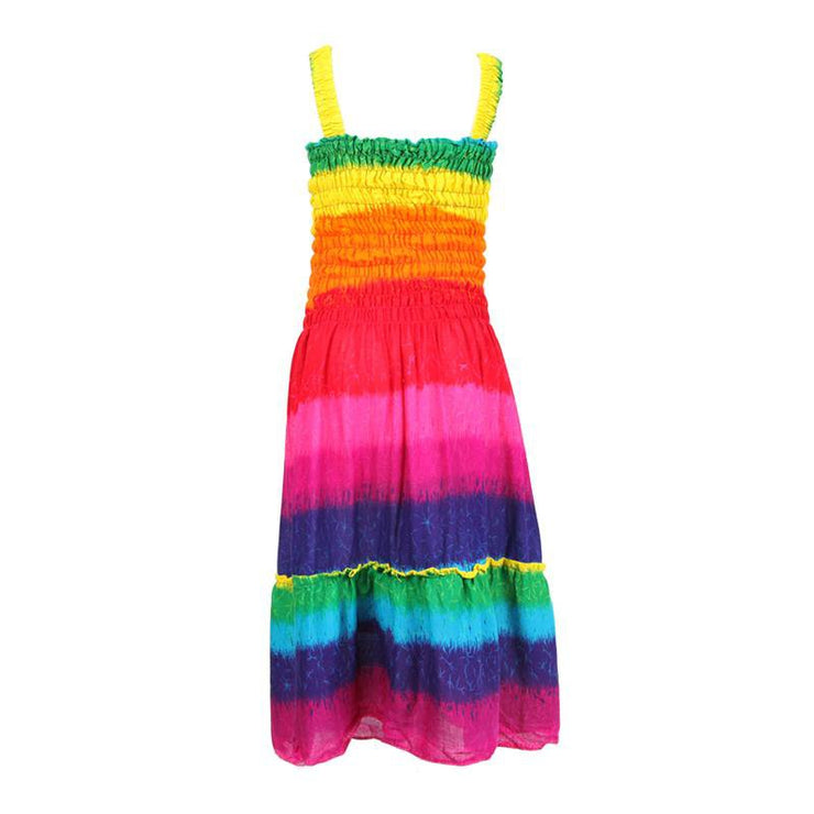 Rainbow Maxi Dress for Girls