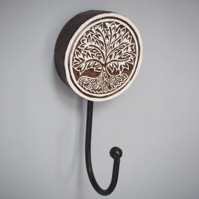 Carved Mango Wood Wall Hook