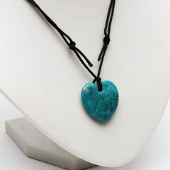Chrysocolla Howlite Heart Necklace