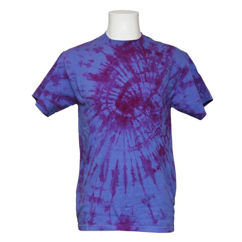 Purple tie dye t shirt the hippy clothing co for Ties that go with purple shirts