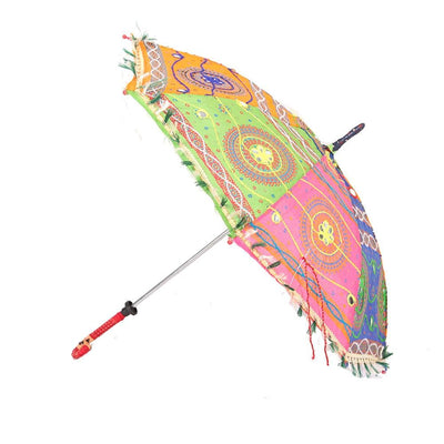 Small Embroidered Sun Umbrella