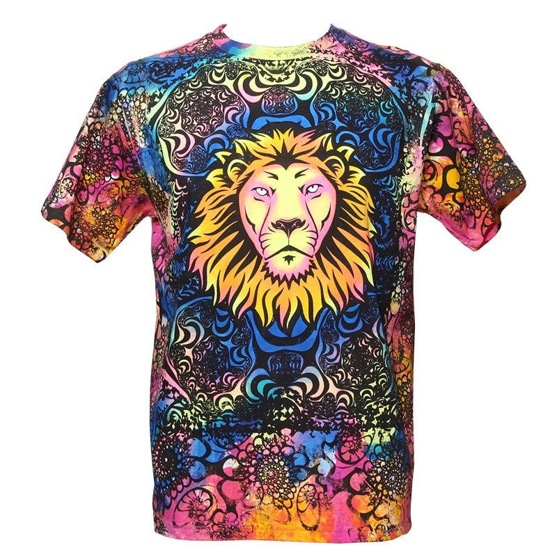 Psychedelic Lion Tie Dye T-Shirt