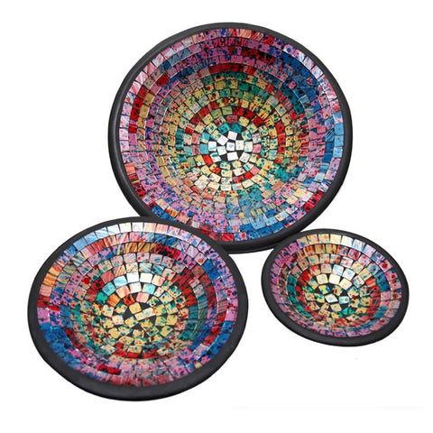Mosaic Bowls Set of 3