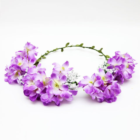 Lilac Flower Hair Garland