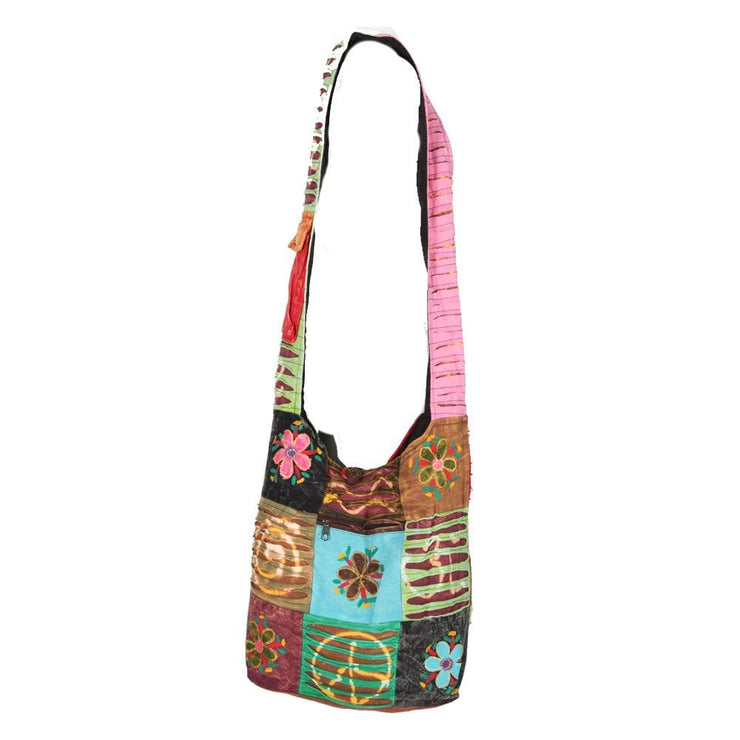 Patchwork Flower Shoulder Bag