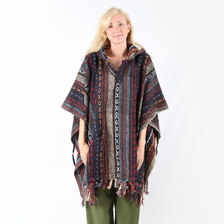 Hooded Blanket Poncho