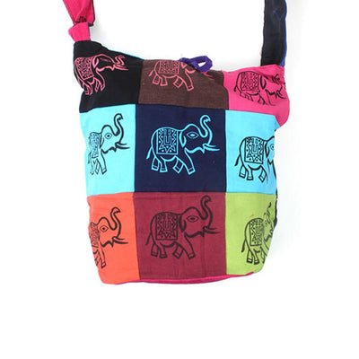 Elephant patch Slouch Bag