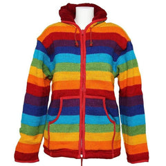 Wool Rainbow Fleece Jacket