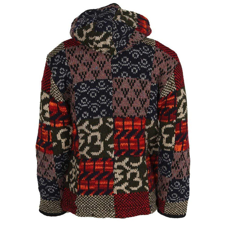Womens Patch Woolly Knitted Jacket
