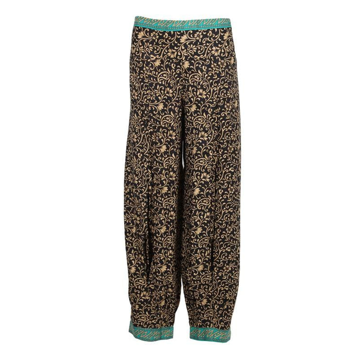 Floral Split Pleat Harem Trousers