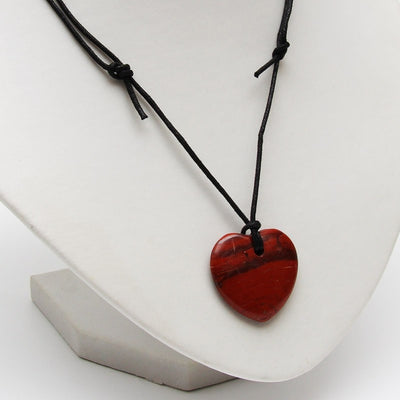 Red Jasper Heart Necklace - Energy