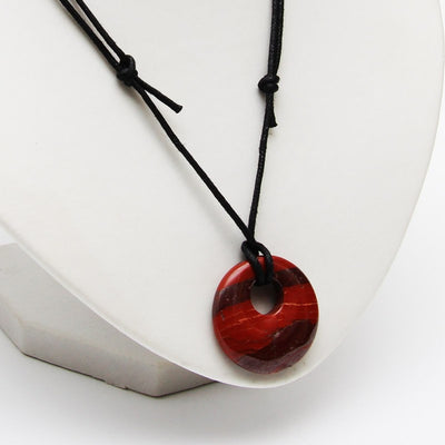 Red Jasper Round Necklace - Energy