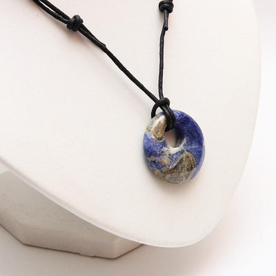 Sodalite Circle Necklace - Meditation