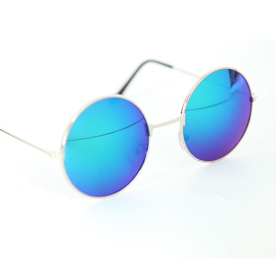 Flash Tinted Lennon Round Sunglasses