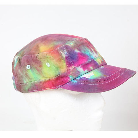 Organic Cotton Tie Dye Army Cap