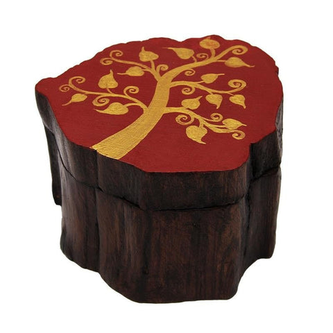 Golden Tree Log Box, Sliding lid