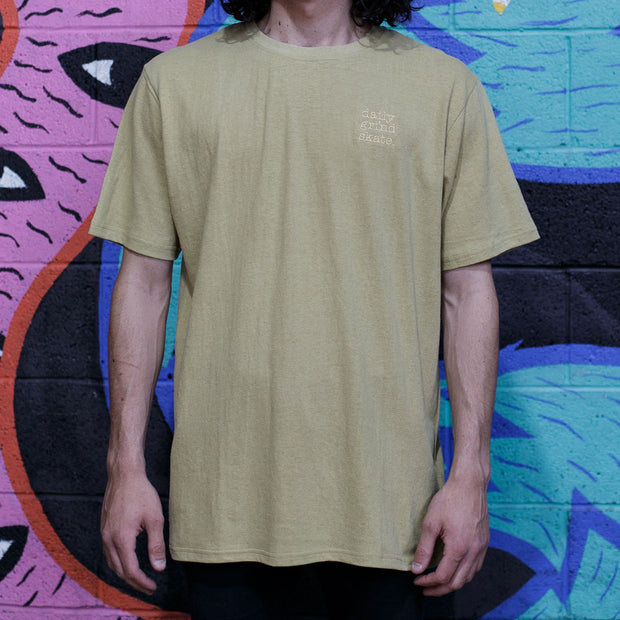 Daily Grind Hemp Embroidered T-Shirt
