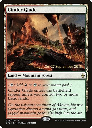 Cinder Glade [Battle for Zendikar Promos] | HFX Games