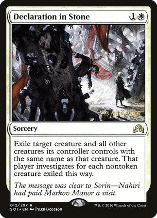 Declaration in Stone [Shadows over Innistrad Promos] | HFX Games