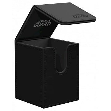 Flip Deck Case Leatherette Black 100+ | HFX Games