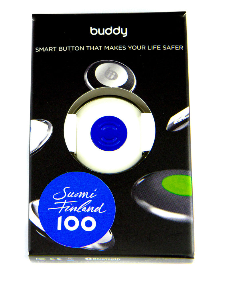White - Blue Button Buddy