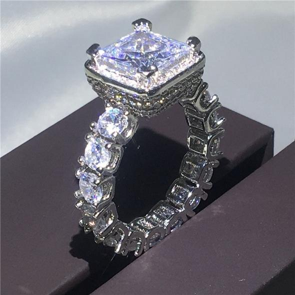 925 Sterling silver Engagement Rings set