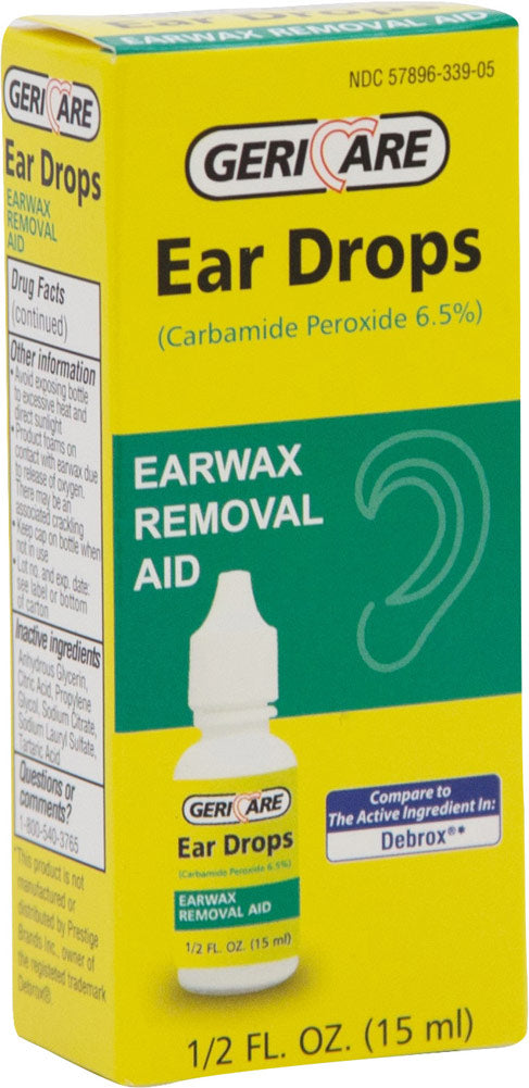 GERICARE EAR DROPS, EARWAX REMOVAL AID, CARBAMIDE PEROXIDE (15ml)