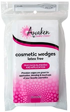 QC AWAKEN COSMETIC WEDGES, LATEX FREE (32 COUNT)