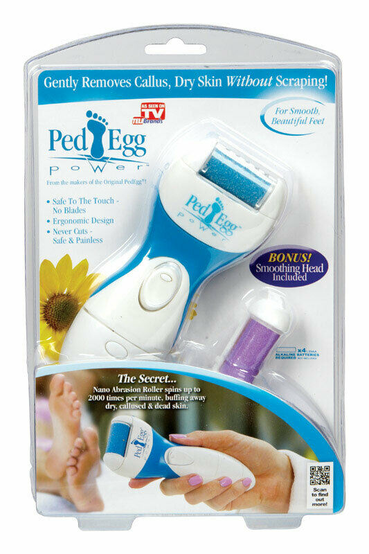 PED EGG POWER, CORDLESS ELECTRIC CALLUS REMOVER, SMOOTHING HEAD INCLUDED