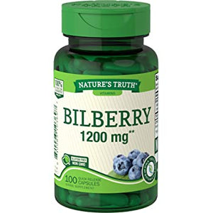NATURES TRUTH BILBERRY 1200mg (100 TABLETS)