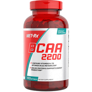 MET-Rx BCAA 2200 SPECIALTY DIETARY SUPPLEMENT (180 SOFTGELS)