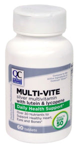QC MULTI-VITE SILVER MULTIVITAMIN WITH LUTEIN & LYCOPENE DAILY HEALTH SUPPORT (60 TABLETS)