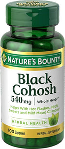 NATURE'S BOUNTY BLACK COHOSH 540mg HERBAL SUPPLEMENT (100 CAPSULES)