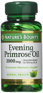 NATURES BOUNTY EVENING PRIMROSE OIL 1000mg (60 Rapid Release Softgels)