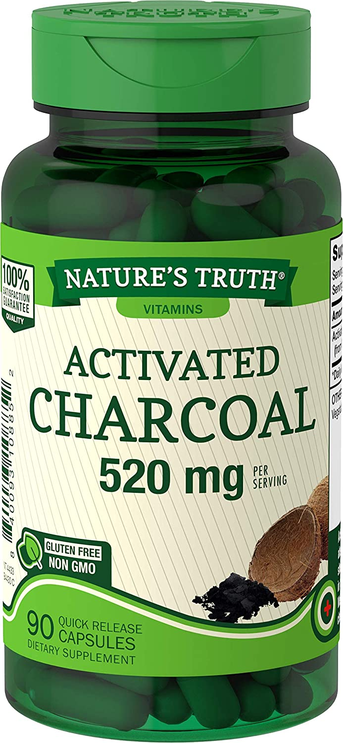 NATURE'S TRUTH ACTIVATED CHARCOAL 520MG (90 QUICK RELEASE CAPSULES)