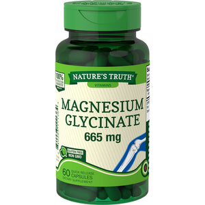 NATURES TRUTH HIGH ABSORBTION MAGNESIUM GLYCINATE 665 mg (60 QUICK RELEASE CAPSULES)