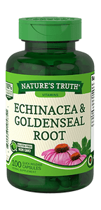 NATURES TRUTH ECHINACEA & GOLDENSEAL ROOT (100 Quick Release Capsules)